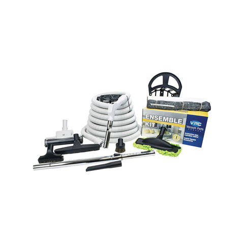 "Central Vacuum Accessories Kit with 30' Hose and 1 3/8"" Pistol Grip with Air Nozzle"