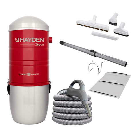 Hayden Zircon 600 Central Vacuum Package with Deluxe Attachment Kit