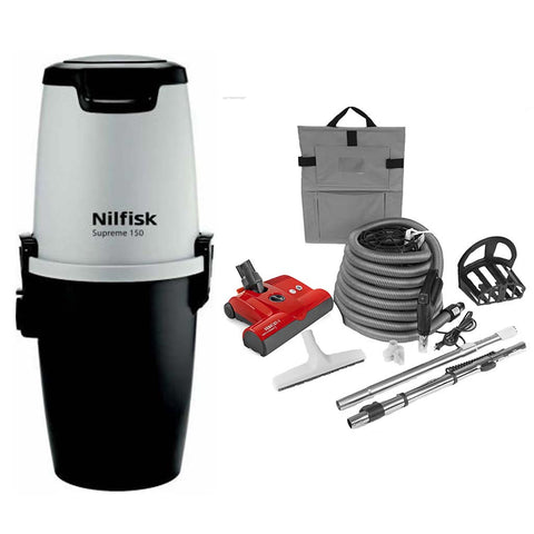 Nilfisk Supreme 150 Central Vacuum with SEBO Premium Electric Kit Canada