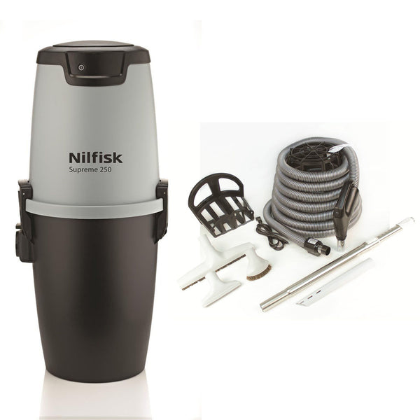 Nilfisk Supreme 250 Central Vacuum With Deluxe Air Kit