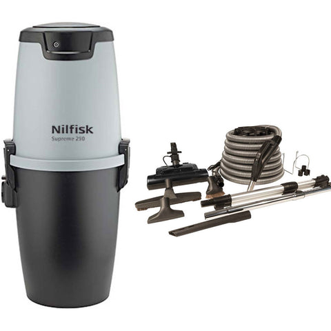 Nilfisk Supreme 250 Central Vacuum with Basic Electric Kit