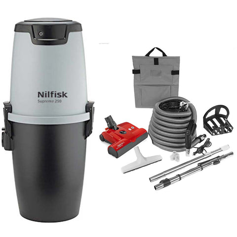 Nilfisk Supreme 250 Central Vacuum with SEBO Premium Electric Kit