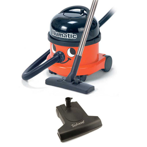 Numatic Henry HVR200A Canister Vacuum and Vacuflo TurboCat Air Driven Powerhead Canada