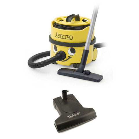 Numatic James Canister Vacuum with Vacuflo TurboCat Cordless Air Driven Powerhead