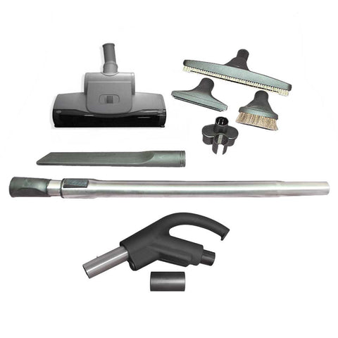 Premium Tool Kit with Air-Driven Carpet Turbine for Hide-A-Hose