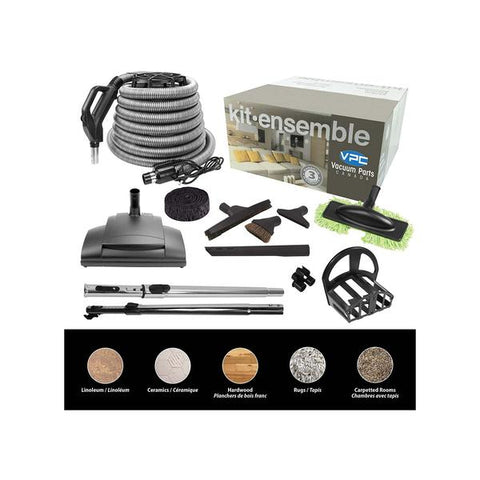 Central Vacuum Accessory Kit with EBK341 Power Head