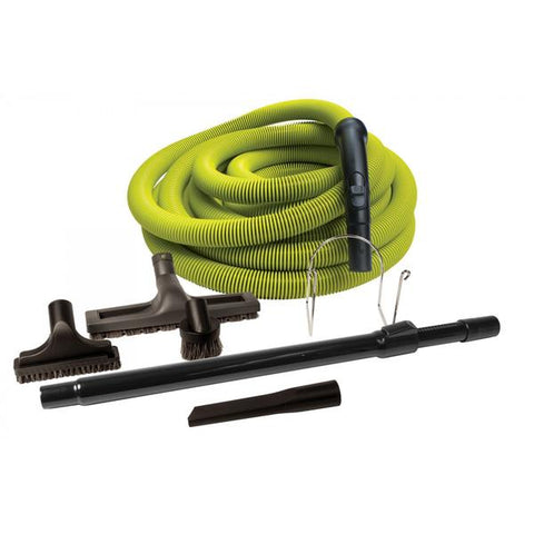 Attachment Kit for Central Vacuum | Lime Colour Hose with Tools and Wand