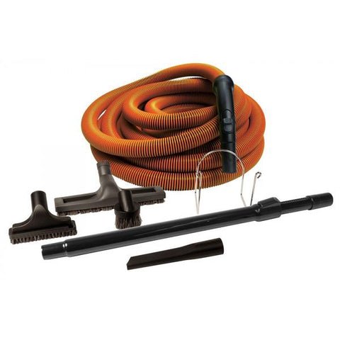 Attachment Kit for Central Vacuum | Orange with Tools and Wand