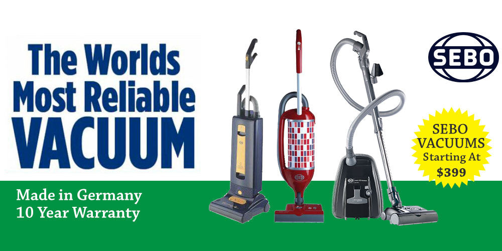 SEBO Upright Vacuums - The World's Most Reliable Vacuums