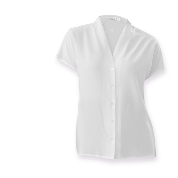 Isabella | White silk shirt