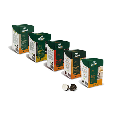Nespresso® Compatible Bold Sample Pack - 5x10 pods of different varieties - Café Liégeois