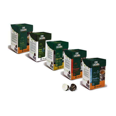 Nespresso® Compatible Classic Sample Pack - 5x10 pods of different varieties - Café Liégeois