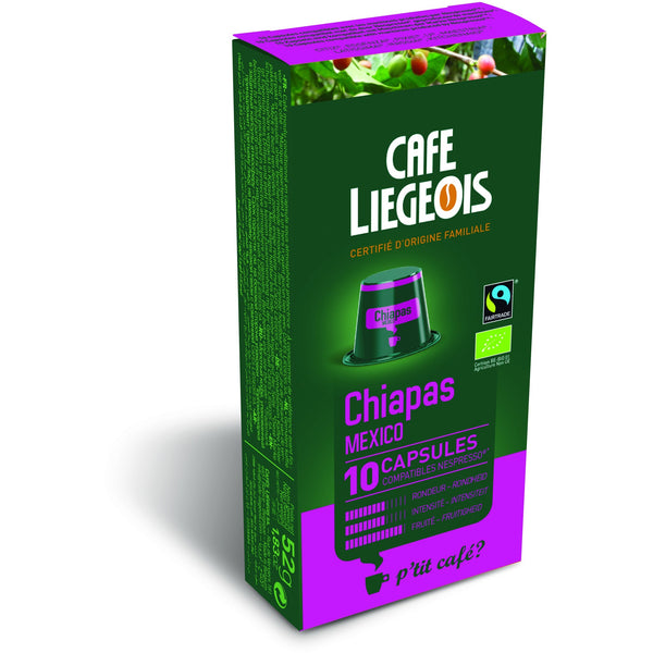 CHIAPAS® de Mexico Alternative to Nespresso® Capsules x10
