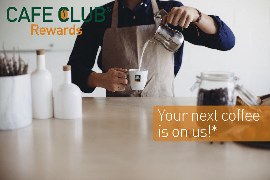 CAFE CLUB® Rewards Program by Café Liégeois, Your next Coffee is on us!
