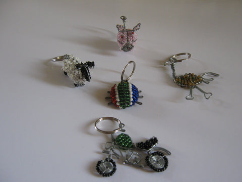 Wire Beaded Key Rings