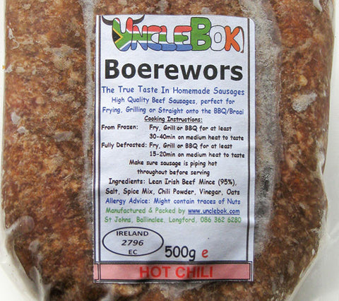 Uncle Bok Boerewors - Chilli