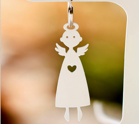 Heart Angel Keyring