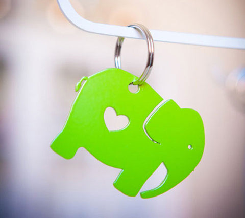 Heart Ellie Keyring