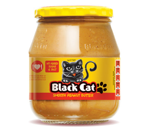 Black Cat Peanut Butter - Smooth (No Sugar, No Salt)