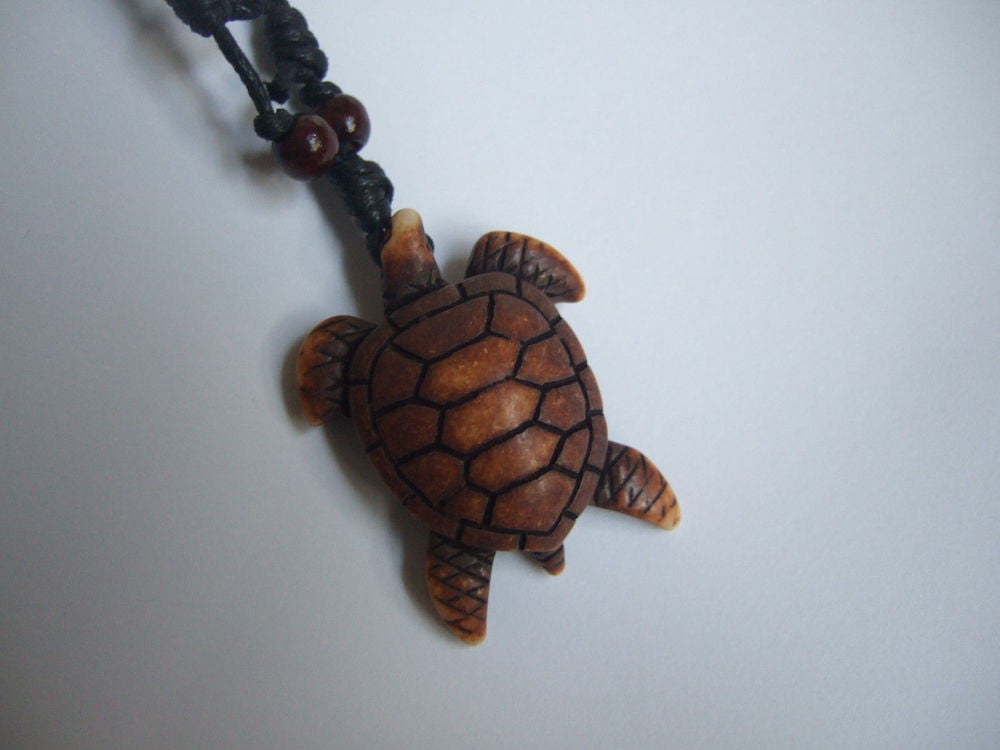 Light brown sea turtle pendant necklace simply trendy aloadofball Image collections