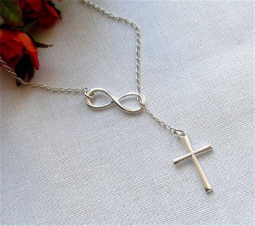 Womens infinity cross pendant necklace simply trendy womens infinity cross pendant necklace aloadofball Images