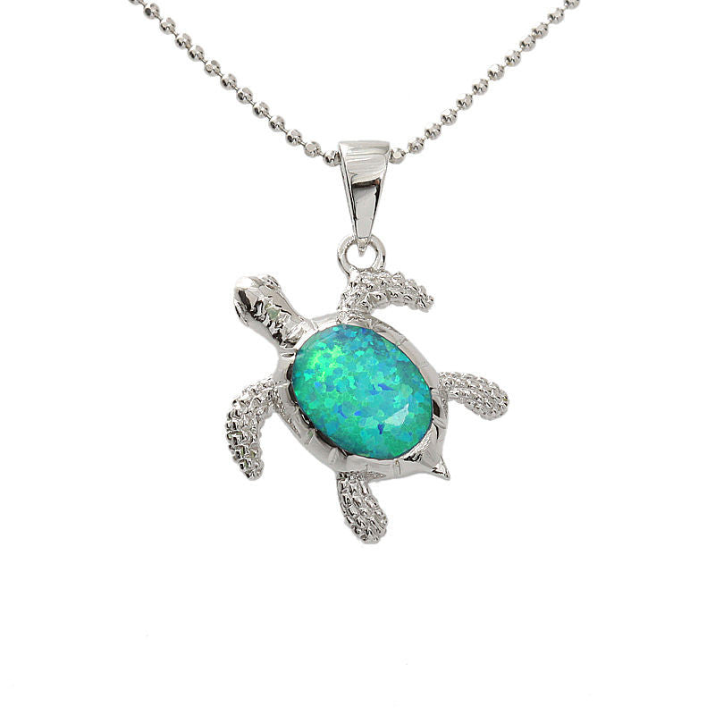 Hawaiian sterling silver blue opal necklace simply trendy mozeypictures Gallery