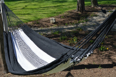 Handwoven Traditional Hammock(Black & White)