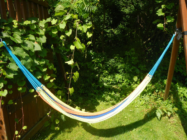 Traditional Handwoven Hammock(Orange, Green, Yellow, Blue)
