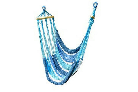 Hanging Hammock Chair (Shades of Blue)