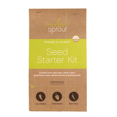 3 Pot Seed Starter Kit - Peppers