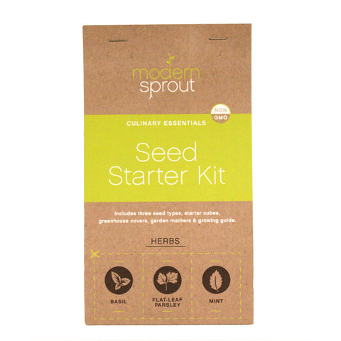 3 Pot Seed Starter Kit - Herbs