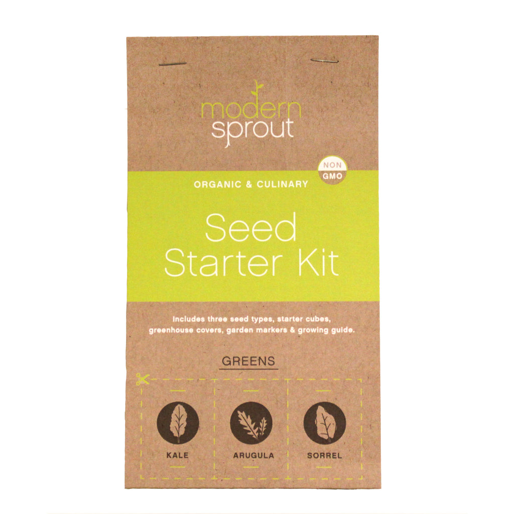 3 Pot Seed Starter Kit - Greens