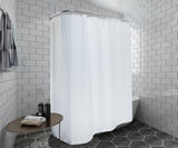 Utopia Alley Waffle Weave Clawfoot Tub Shower Curtain 180 x 70 Inch Wrap Around - Heavyweight Fabric, Washable, Water Repellent, with 36 Hooks Set, 180x70, Gray/White