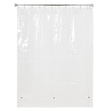 "Utopia Alley 72""X72"" 4.8G Clear PEVA Shower Curtain Liner with Magnets"
