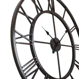 "Utopia Alley Roman Round Wall Clock, 30"" Diameter, Bronze Finish"