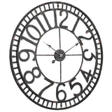 Utopia Alley Manhattan Industrial Wall Clock, Analog, Black, 32""