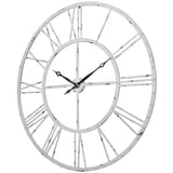 Utopia Alley Rivet Roman Industrial Oversize Wall Clock, White, 45""