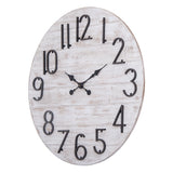 "Utopia Alley Oversize Round Wall Clock, 28"" Diameter, Gray Wood Finish"