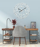 Utopia Alley Manhattan Industrial Wall Clock, Analog, White, 24""