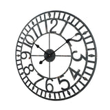 Utopia Alley Manhattan Industrial Wall Clock, Analog, Black, 24""