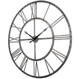 Utopia Alley Rivet Roman Industrial Oversize Wall Clock, 43.5""