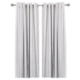 "Utopia Alley Curtain Rod with Round Finials, Adjustable Length 28-48"", Satin Nickel"
