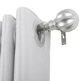 "Utopia Alley Curtain Rod with Decorative Ball Finial, 28-48"", Nickel"
