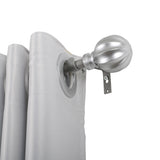 "Utopia Alley Curtain Rod with Decorative Ball Finial, 48-86"", Nickel"