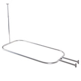 Utopia Alley Rustproof Aluminum Hoop Shower Rod With Ceiling Support for Clawfoot Tub, 54 Inch Extra Large Size by 26 Inch