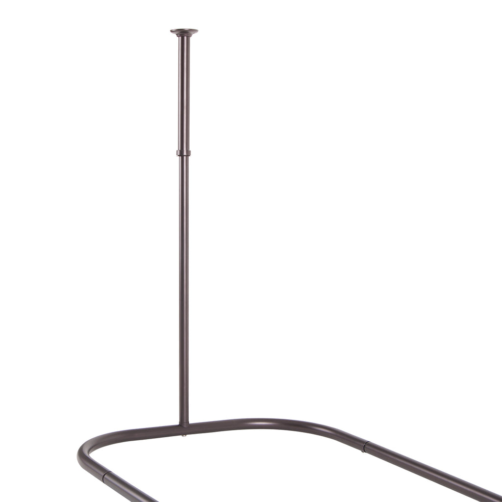 Utopia Alley Hoop Shower Rod For Clawfoot Tub