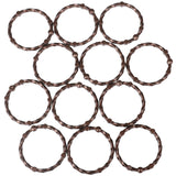 Utopia Alley Shower Eternity  Curtain Rings, Rustproof Zinc Shower Curtain Rings for Bathroom Shower Rods Curtains - Set of 12