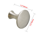 "Utopia Alley Charlton Cabinet Knob, 1.2"" Diameter, Brushed Nickel"