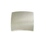 "Utopia Alley Rhonda Contoured Square Cabinet Knob, 1.3"", Brushed Nickel"