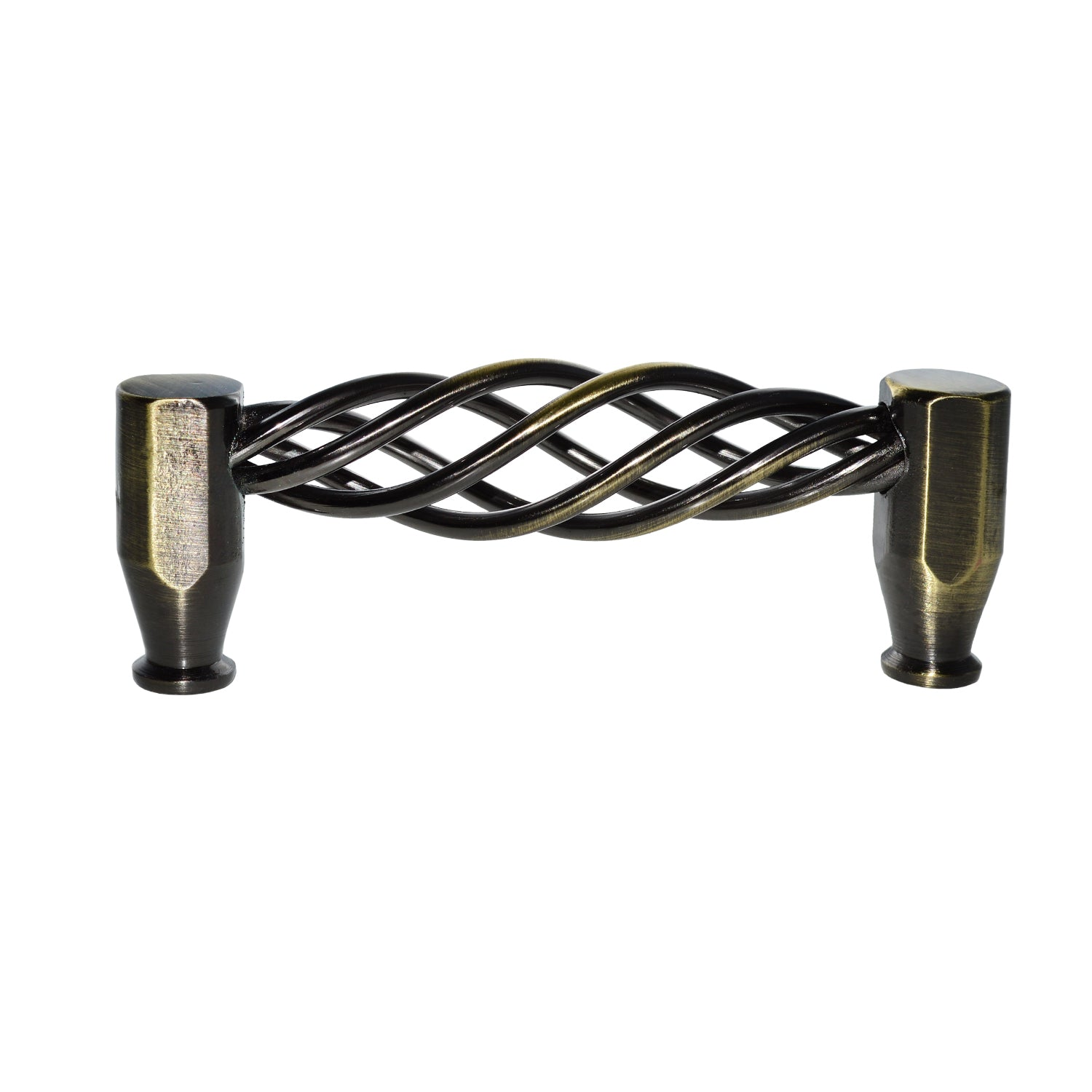 Antique Brass Cabinet Pull - Aire 3-3/4 In. Antique Brass Cabinet Pull - Utopia Alley